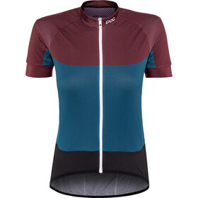 POC Essential Road Maillot léger à manches courtes Femme, polypropylene red/draconis blue